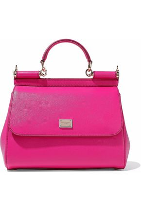 Dolce & Gabbana Textured Leather Shoulder Bag Magenta 1qaeSDqgQ