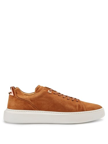 Buscemi Uno Low Top Leather Trainers Brown vg3zqBw