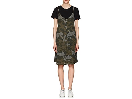 ATM Anthony Thomas Melillo Camouflage Cotton Cami Dress Green RDINYiM06