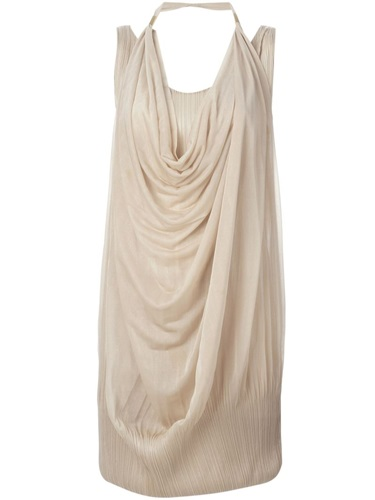 Issey Miyake Vintage Draped Dress Nude And Neutrals tTZAhcp7
