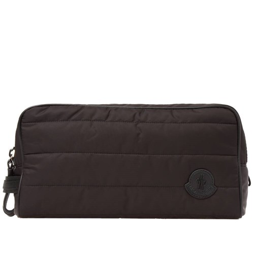 Moncler Quilted Wash Bag Black FnlQSblJAA