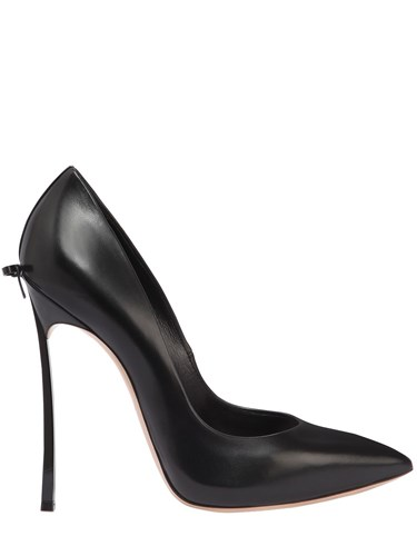 Casadei 120Mm Blade Bow Leather Pumps Black gAyXEB1kOj