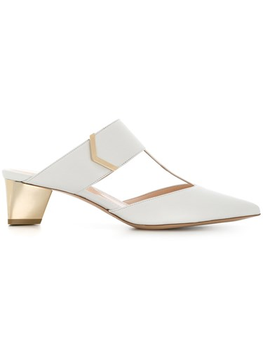 Nicholas Kirkwood Pointed Mules White AoTjgHC