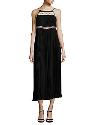 Dress Black Rachel Pleated Solid Zoe qtwpp1H6