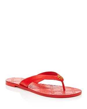 Monroe Women's Tory Leather Red Burch Sandals Exotic Thong FEwq1wRP
