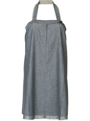 We11done Raw Hem Halterneck Dress Blue jhM3yLb