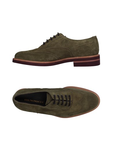 Bruno Magli Lace Up Shoes Military Green EjxnfO23W1