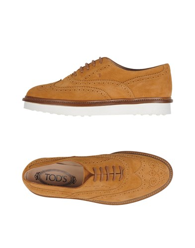 Up Tod's Lace Up Shoes Lace Camel Tod's xHOv6SqH