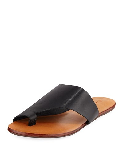 Black Carrano Flat Sandal Martie Leather rqFvqUaW