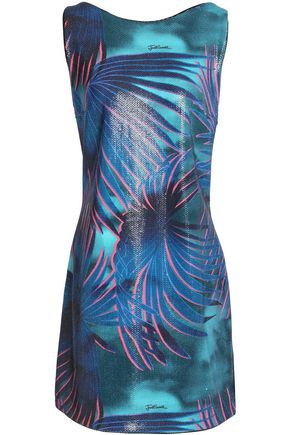 Just Cavalli Sequined Woven Mini Dress Blue w9yCO