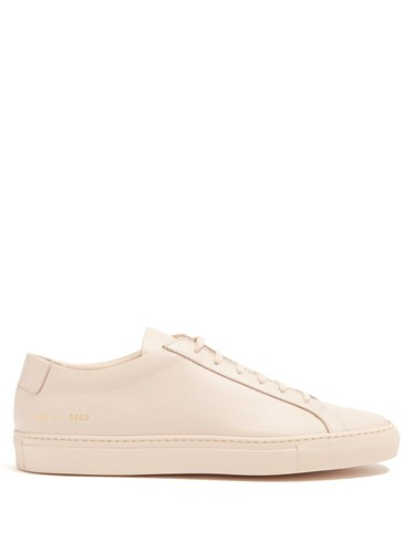 Common Projects Original Achilles Low Top Leather Trainers Nude vWE9W