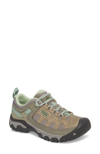 Keen Targhee Vent Hiking Shoe Fumo Quiet Green Leather hwDeuvwv