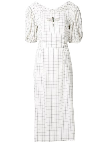 Vivetta Check Midi Dress White vn7lL