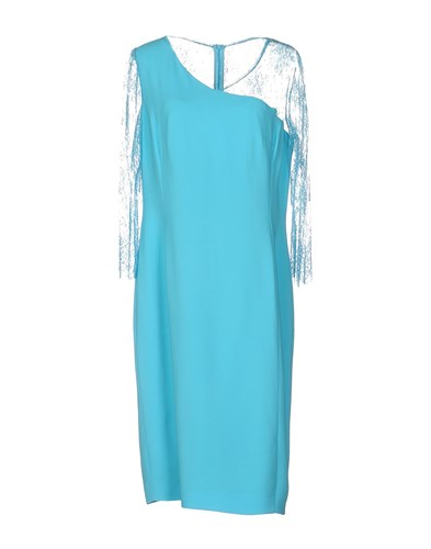 Clips Knee Length Dresses Sky Blue 6PizvHQd