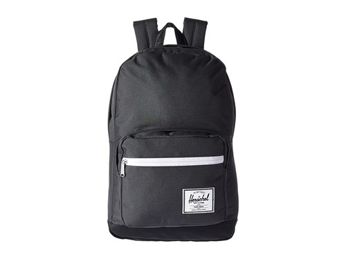 Herschel Supply Co. Pop Quiz Dark Shadow Black Synthetic Leather Backpack Bags mSiuRKV6