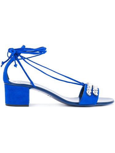 Giuseppe Zanotti Design Cindy Sandals Women Leather 38.5 Blue lhUvXg5
