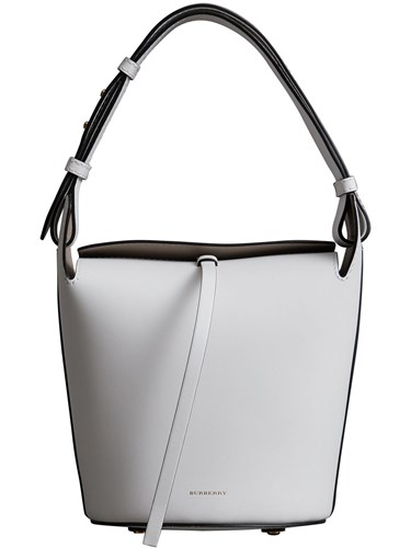 Burberry The Small Leather Bucket Bag White 0fs0OU6