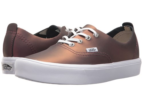 Vans Authentic Decon Lite Muted Metallic Red Gold Skate Shoes vHM91rZS