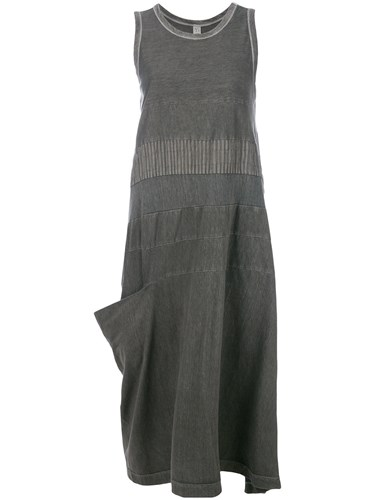 Y's Bias Cut Sleeveless Midi Dress Grey A5eaq5Wc