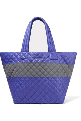 M Z Wallace Mz Metro Medium Quilted Shell Tote Blue 1W7qb