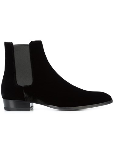 Saint Laurent Wyatt Chelsea Boots Black yM1nkiOR
