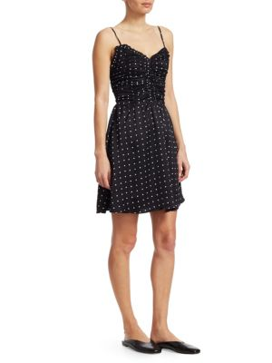 Maje Renota Polka Dot Dress Black hpolgIXz