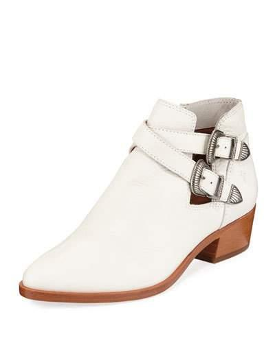 Frye Ray Western Ankle Bootie White roLoi