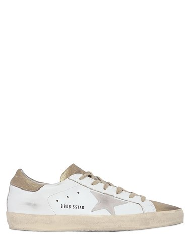 Goose Super 20Mm Golden Leather Sneakers Star RgFwqwA