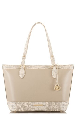 Brahmin Medium Quincy Asher Leather Tote Beige Taupe Quincy fCmcDg