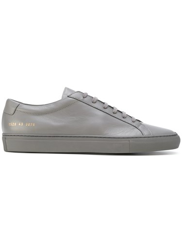 Common Projects Low Top Sneakers Leather Rubber Grey VmyUZ
