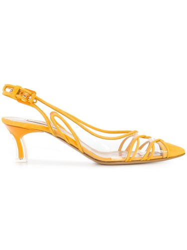 Pumps Yellow And Orange Vinyl Slingback Casadei EnqUxwAO00