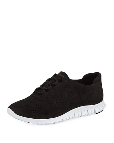 Cole Haan Zerograndtm Perforated Trainer Sneaker Black T86uF3e