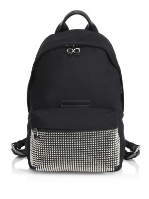 McQ by Alexander McQueen Classic Studded Backpack Black O9TsXHAdr6