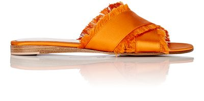 Gianvito Rossi Women's Barth Satin Slide Sandals Orange k1Qg8OzM