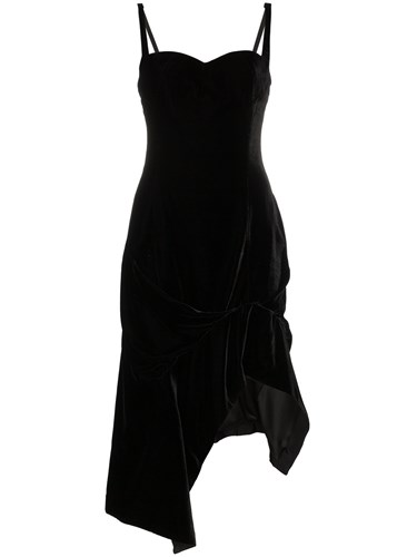 Velvet Dress Olivier Fitted Midi Black Theyskens wC5qI58