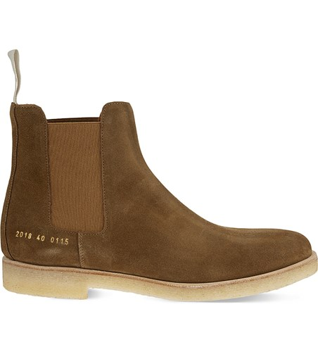 Common Projects Suede Chelsea Boots Tobacco vaqNB