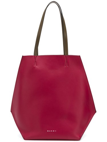 Marni Block Red Shopper Tote Colour aaW4rOf