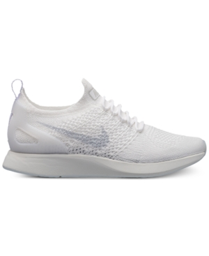 Nike Women's Air Zoom Mariah Flyknit Racer Casual Sneakers From Finish Line White Pure Platinum Summi JLghMEr