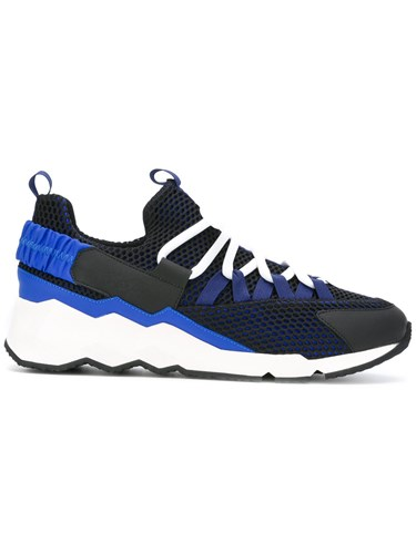 Pierre Hardy Lace Up Trainers Blue NSaQt