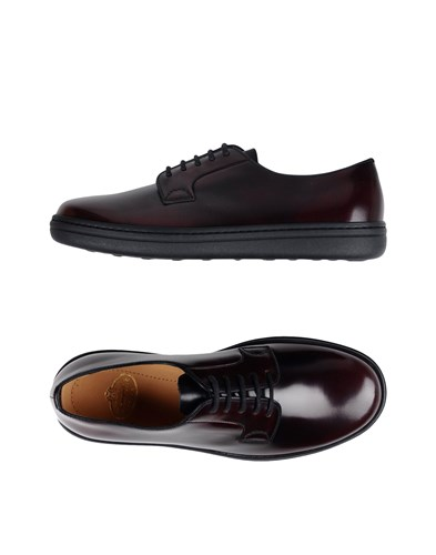 Church's Lace Up Shoes Maroon J4Ris6