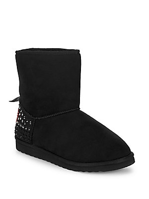 Love Moschino Studded Slip On Booties Black mcNHzE