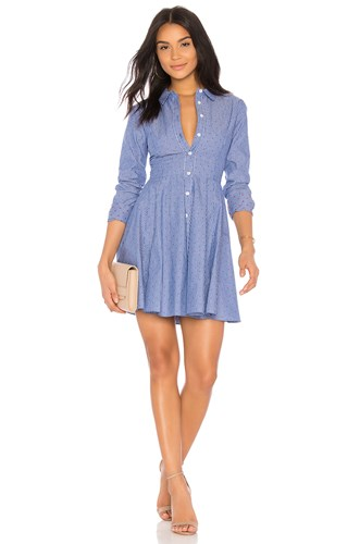 BCBGeneration Shirt Dress Blue 7YzqxNdMXG
