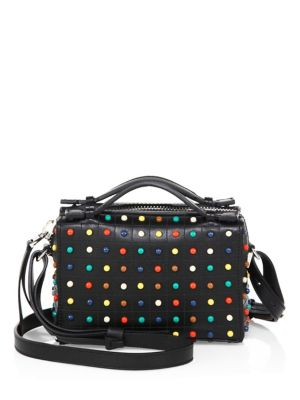 Tod's Diodon Studded Micro Leather Crossbody Bag Black Multi U3bGHYve