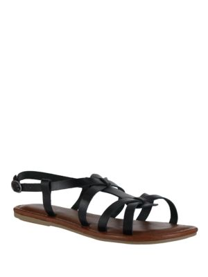Mia Buttercup Leather Gladiator Sandals Black yQbCGn4