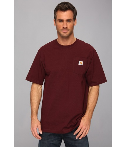 Carhartt workwear pocket s s tee k87 port men 39 s t shirt for Carhartt burgundy t shirt