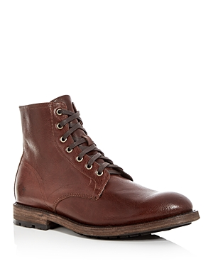 Frye Men's Bowery Pebbled Leather Boots Copper Mb9zeLF