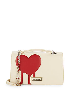 Love Moschino Heart Chain Shoulder Bag Ivory kCVY1pl