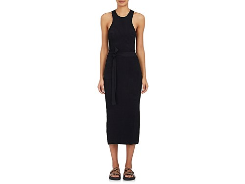 Helmut Lang Women's Cutout Wrap Dress Black eIlhBd8s
