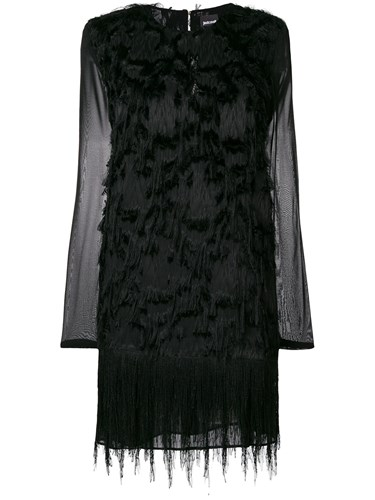 Just Cavalli Feather Embellished Dress Black HmfmJ