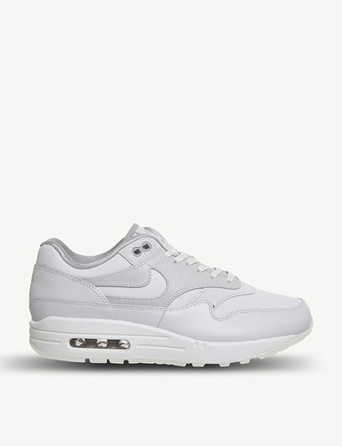 Nike Air Max 1 Leather Trainers Vast Grey Atmosphere cRvxi8Axi
